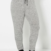 Plus Silver Marled Knit Jogger
