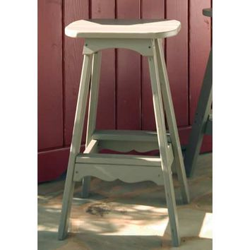 Uwharrie Chair Company 5061-041 Companion Outdoor Rustic Red Bar Stool - (In 041-Rustic Red)