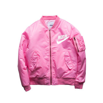 2016 Hip-Hop Street Kanye West Ma1 Pink Bomber Jacket Homme  Yeezy Season 3 Air Force One Fbi Anarchy Bomber Jacket Men
