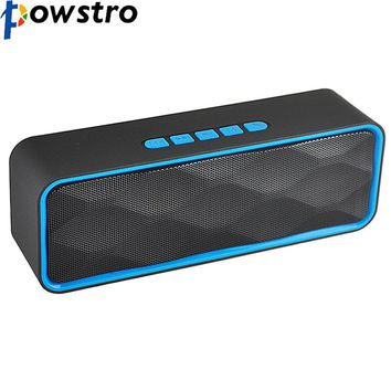 Powstro Portable Bluetooth Wireless Speakers 6W Bass Soundbar support TF card/Aux Loudspeaker HIFI Stereo Bass Handsfree