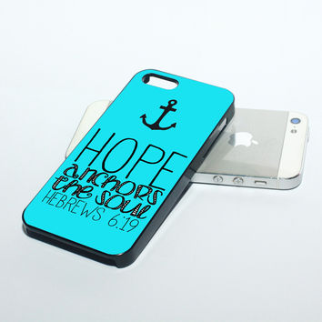 Hebrews 6:19 Hope Anchors the Soul iPhone Case for iPhone 5/5s/5c/6/6s/6+/6s+/7/7+ Case