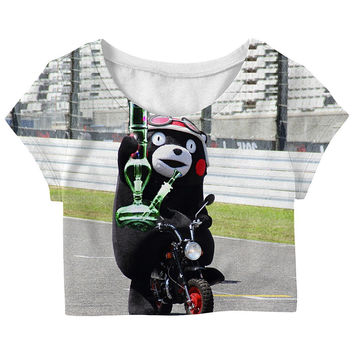 Crazy Kumamoto in Japan 3D fashionable cotton women top