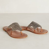 Beaded Starlight Slides by Jasper & Jeera Silver