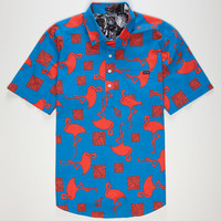 Volcom Pope Mens Shirt Blue  In Sizes