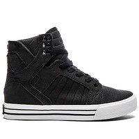 Supra Skytop Satin Sneaker in Black