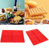 Silicone Waffles Muffins Mold Cake Chocolate Pan Bakeware Kitchen Baking Tools