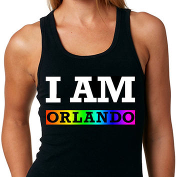 I AM Orlando Pride Tank Top Same-Sex Marriage Gay Pride Lesbian Pride Rainbow Pride Equality Tank Top
