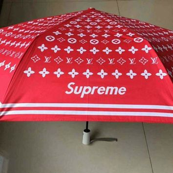 PEAPJ1A Supreme & LV fashion tide brand personalized sunscreen UV umbrella LV-DPYS