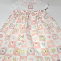 Baby Dress,  Bodysuit Dress, Baby Summer Dress, Onesuit Dress , Hearts
