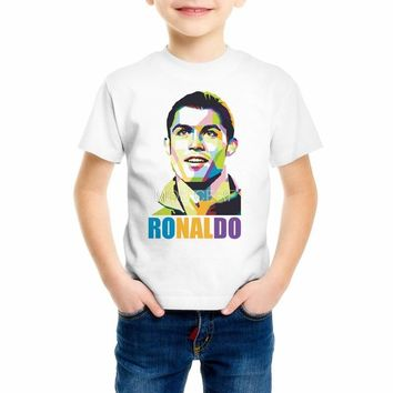 Summer World Cup Cristiano Ronaldo Boys/Girls/Kids/Baby T-shirt survetement camiseta barcelonae Children's t shirt Z9-7