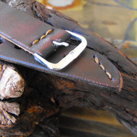 Watch strap 20mm handmade rustic leather strap band
