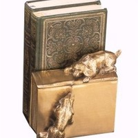 Brass Bookend | Dogs on Book Bookends
