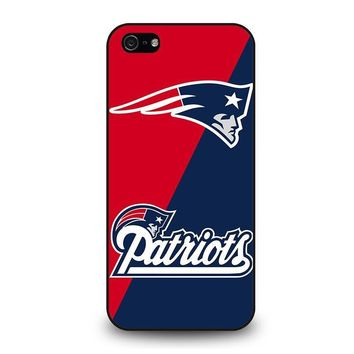 new england patriots iphone 5 5s se case cover  number 1