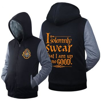 2017 new autumn and winter Harry Potter thick sweatshirt US drama cotton men and women hoodie leisure hooded loose jacket