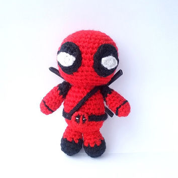 Deadpool. Deadpool Pattern. PDF file amigurumi crochet pattern. DIY handmade toy.