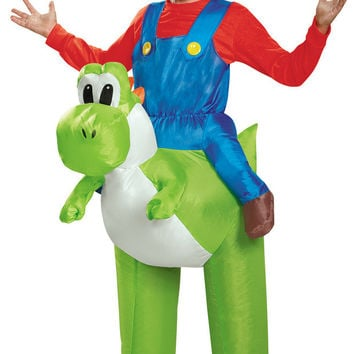 Super Mario Bros: Mario Riding Yoshi Inflatable Child Costume