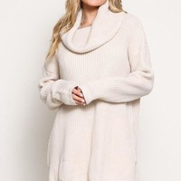 Aspen Oversized Knit Sweater - Cream