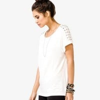 Studded Panel Top | FOREVER 21 - 2023806847