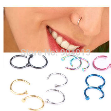 Hoop Nose Rings Clip On