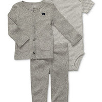 Carter's Baby Set, Baby Boys 3-Piece Cotton Cardigan, Bodysuit and Pants - Kids Baby Boy (0-24 months) - Macy's