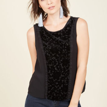 Spiffy Studies Tank Top in Black | Mod Retro Vintage Short Sleeve Shirts | ModCloth.com