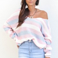 Candy Coated Open Back Knot Sweater - Amazing Lace
