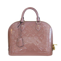 Louis Vuitton Rose Velours PM Vernis Alma Handbag Purse