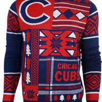 Chicago Cubs Forever Collectibles KLEW Ugly Sweater Sizes S-XXL w/ Priority Shipping