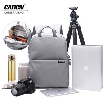 "CADeN DSLR Camera Bag Video Photo Digital Camera Backpack Waterproof Laptop 14"" School Travel Bag for Dslr Canon Nikon Sony L5"