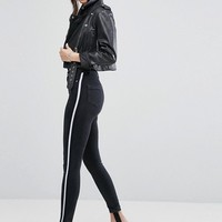 ASOS RIDLEY Skinny Jean With Clean Black Side Stripe With Removable Stirrup at asos.com