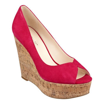 Nine West: Audora Peep Toe Wedges