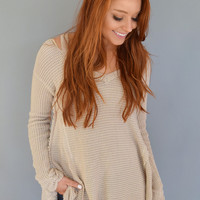 Aspen Cutout Sweater Stone