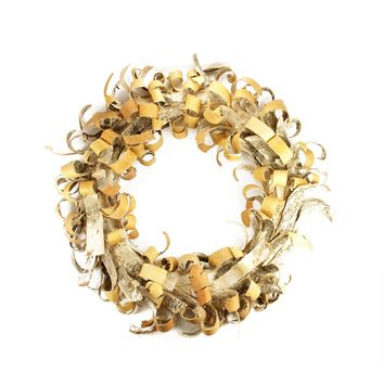 "24"" Rustic Earth Tone Tree Bark Inspired Christmas Wreath"