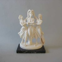 Three Dancers Statue by Canova Bonded Marble from Italy, Assorted Sizes - 4795X