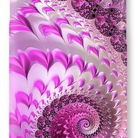 Pink Spiral With Lovely Hearts IPhone 7 Case
