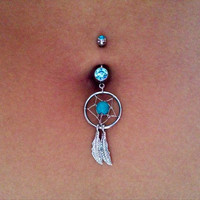 Dream Catcher Belly Ring (multiple colors)