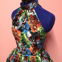 Vintage Style Avengers Marvel Comics Dress