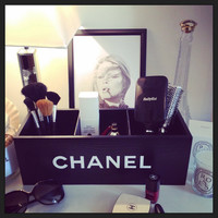 Black Chanel Storage Box / Make-up vanity