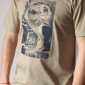 Fear and Loathing in Las Vegas T Shirt Mens Brown Johnny Depp Short Sleeve T Shirts Tee Shirts Women Shirts Women T-Shirt Size M L Tees