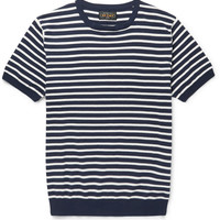 Beams Plus - Striped Knitted Cotton T-Shirt | MR PORTER