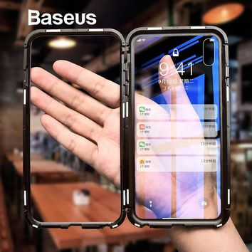 Transparent Tempered Glass Cellphone Case for iPhone X