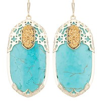 Deva Statement Earrings in Turquoise Glam - Kendra Scott Jewelry