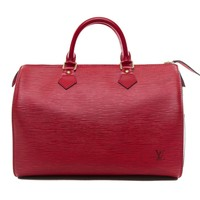 Authentic Louis Vuitton Red Epi leather Speedy 30 M43007