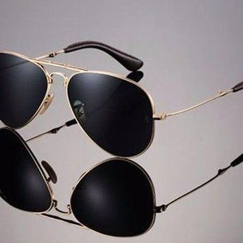 $800 RAY-BAN 22KT GOLD PLATED Folding AVIATOR Sunglasses RB 3479KQ 001/N5 3025