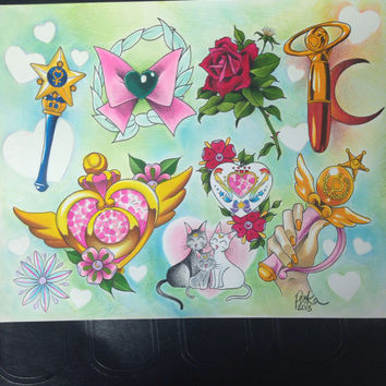 Sailor Moon Flash Sheet Print