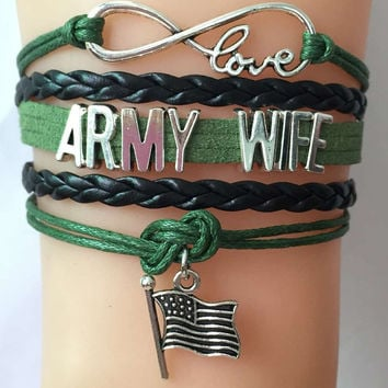 Army Wife Support Bracelet