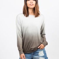 Dip Dye Tunic Sweater
