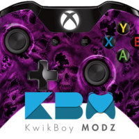 Purple Battered Skulls Xbox One Controller