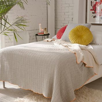 Stitched Jacquard Reversible Bed Blanket | Urban Outfitters