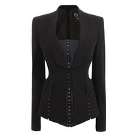 Tailored Hook And Eye Jacket McQ | Jacket | Ready To Wear